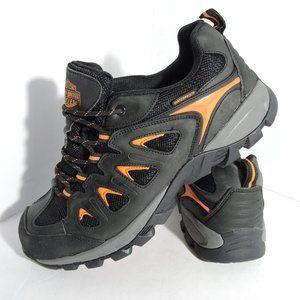 """Harley-Davidson"" Black/Orange Hiking Shoes"